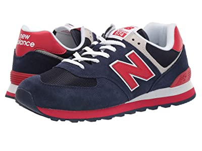 New Balance Classics ML574v2 (Pigment/Team Red) Men