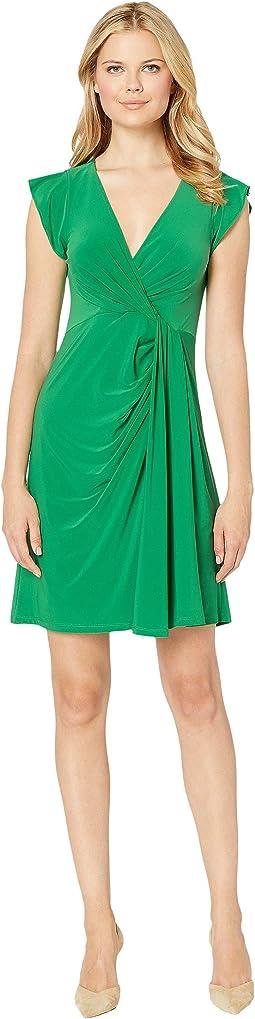Matte Jersey Draped Dress