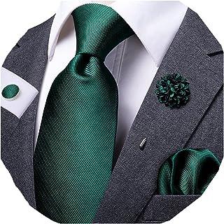 دکمه های دکمه ای Dubulle 4pcs Lapel Pin و Necktie Hankerchief Cufflinks مردان