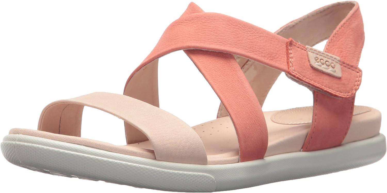 ECCO Women's Damara Crisscross Gladiator Sandal, pink Dust Coral, 39 EU 8-8.5 M US