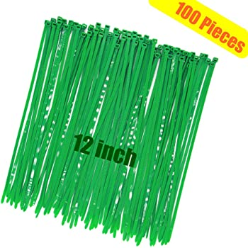 100-Pack Pro Tie GR14SD100 14.6-Inch Green Standard Duty Color Cable Tie Green Nylon