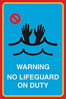 12x18 Pool Area Keep Gate Closed Black Yellow Print Swim Rules Swimming Horizontal Poster Outdoor Notice Sign Large
