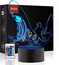 Bedoo LED Night Light 3D Illusion Bedside Table Lamp 16 Colors Changing Sleeping Indoor Lighting Smart Dimmable with Remot...
