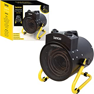 Benross 3kW Industrial Fan Heater 3000 Watt Black/Yellow