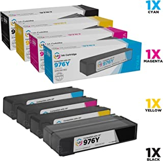LD Remanufactured Ink Cartridge Replacement for HP 976Y Extra High Yield (Black, Cyan, Magenta, Yellow, 4-Pack)