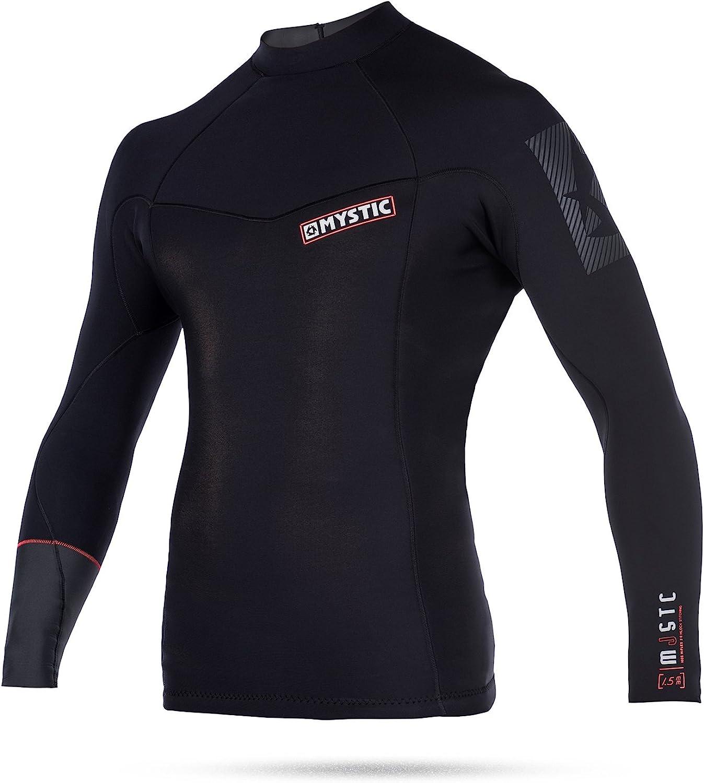 Mystic WatersportsSurf KiteSurf & Windsurfing Majestic 1.5MM Neoprene Wetsuit Top BlackPolar Lining Front & Back