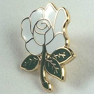 Yorkshire County White Rose English Rose Quality Enamel Badge