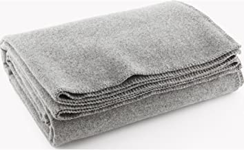 product image for Faribault Pure & Simple Wool Blanket - LT Heather Gray - Twin
