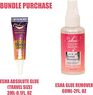 Esha Absolute(Travel Size) Adhesive Glue + Adhesive Remover Set