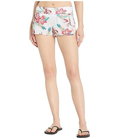 Roxy Endless Summer Printed Boardshorts (Bright White Tropic Call) Women