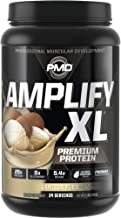 PMD Sports Amplify XL Premium Whey Protein Supplement Hydro Greens Blend - Glutamine and Whey Protein Matrix with Superfoo...