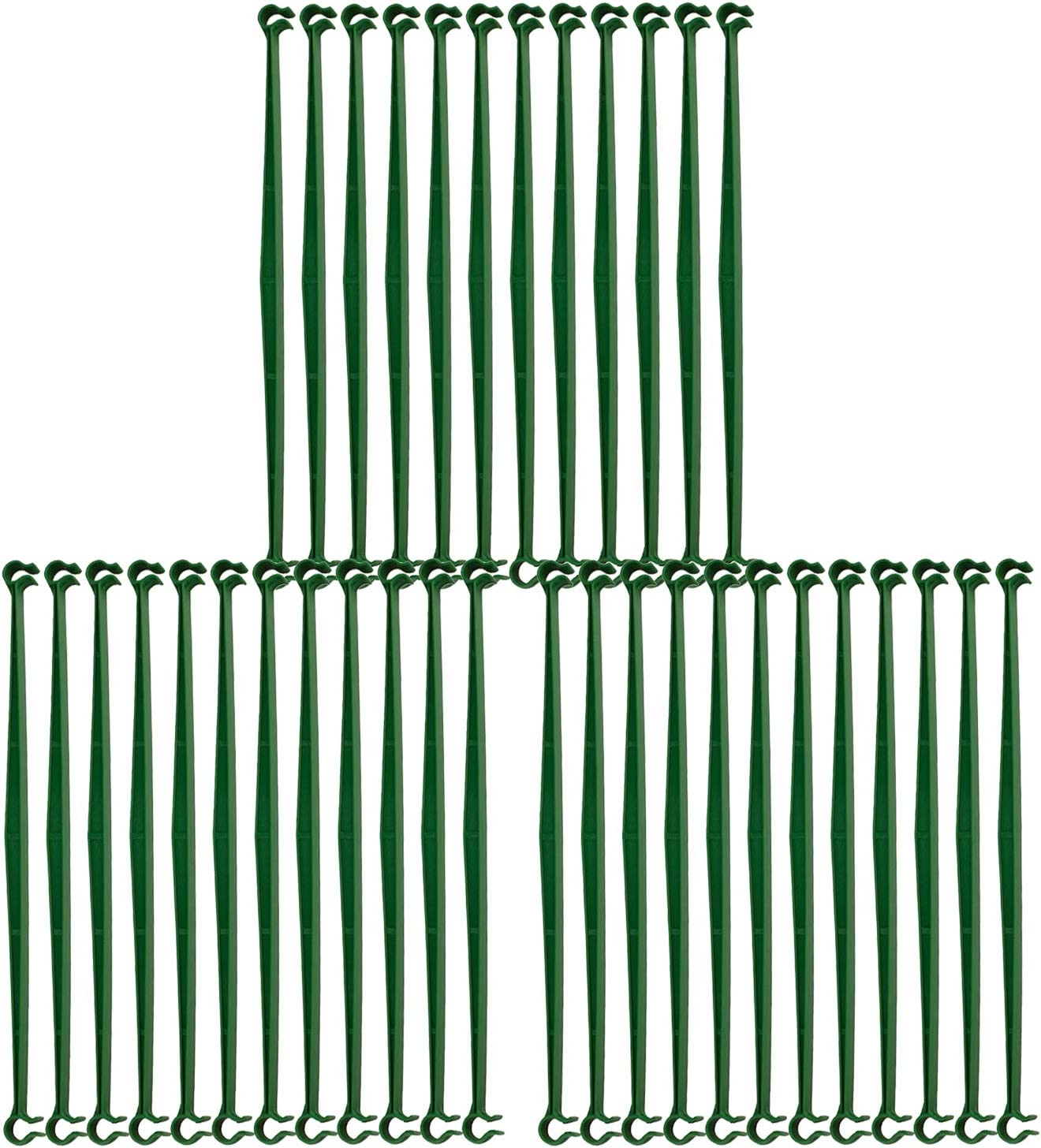 Firlar 36 PCS Garden Trellis Connectors, Garden Stakes Arms for Tomato Cage Attach 11mm Diameter Plant Stakes, 11.8in Plastic Connecting Rod Brackets Gardening Supplies for Vertical Climbing Plants