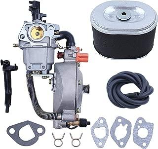 Haishine Carburetor Gasket Air Filter Fuel Hose Kit for Honda GX160 GX200 GX 160 200 Chinese 168F 170F Engine 5.5/6.5HP 2-3KW Generator