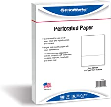PrintWorks Professional Perforated Paper, 500 Sheets, 3 2/3
