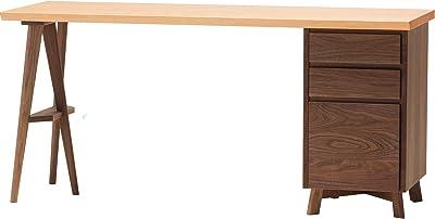 大雪木工 デスク ニレ 幅150cm 無垢天板 ウレタン塗装 耳付き Solid Desk 150x50 片袖 ニレ材