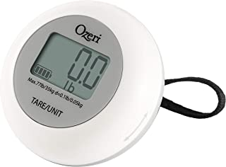 Ozeri Twist-and-Go Kinetic Kitchen and Luggage Scale, Portable, Gray