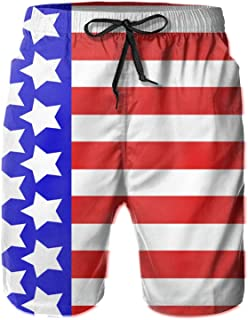 Flag Stars Style Stripe Flag Stars Style Stripe Fashion Mens Swim Trunks Quick Dry Beach Shorts