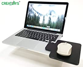 Creator's Mouse Ledge -Black- Platform Laptop Chromebook Computer Extension - Slick Surface W/Edge Guard - Attaches Directly to Either Side of Laptop Creating A Portable Workstation - Born in The USA