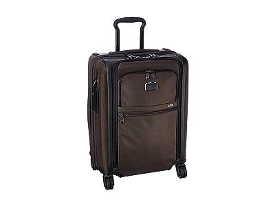 Tumi Alpha 3 Continental Dual Access 4 Wheeled Carry-On (Coffee) Luggage
