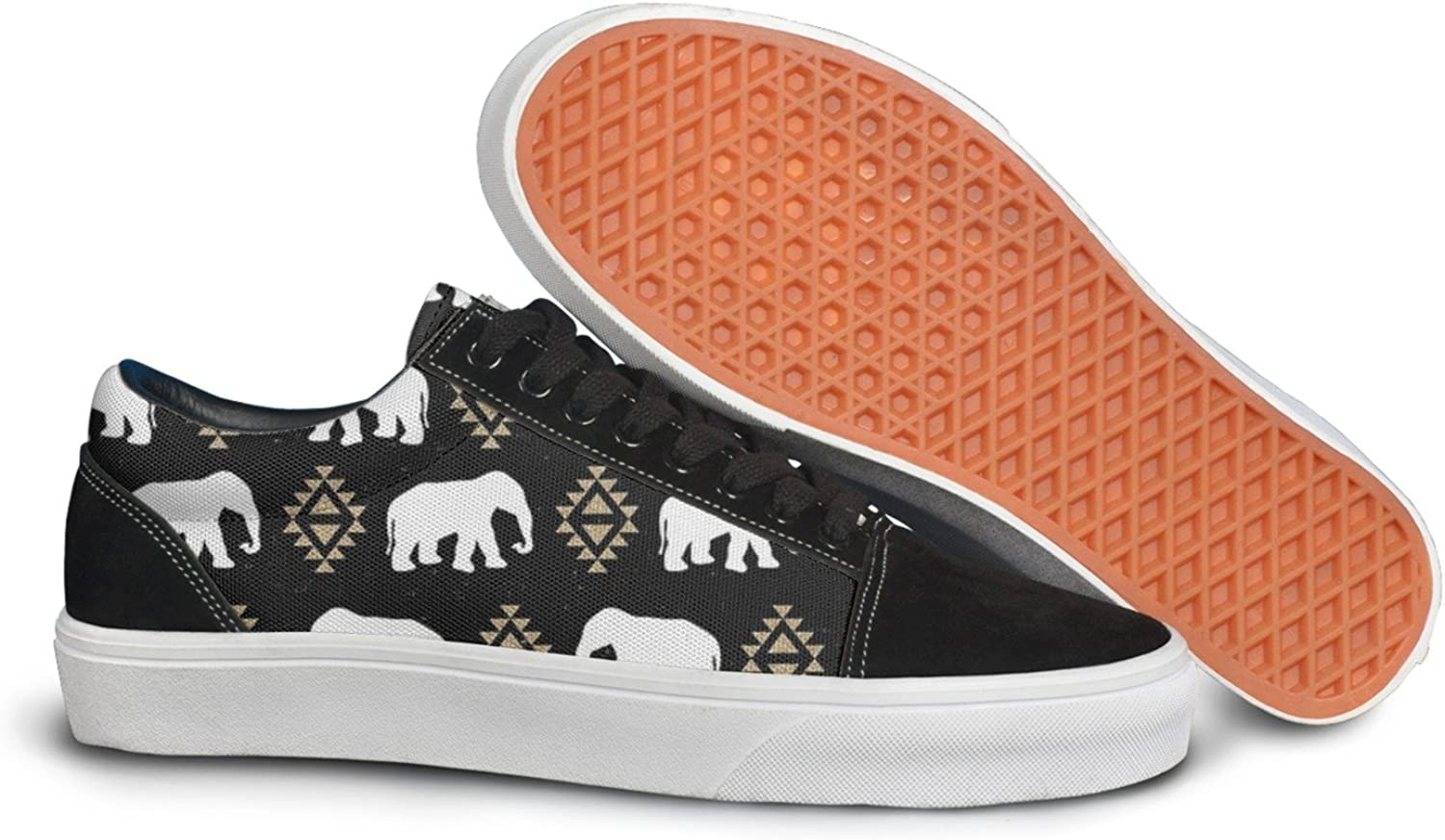 Elephant Pattern Tribal Aztec Triangles Women Casual shoes Footwear Classic Low Top Trainers