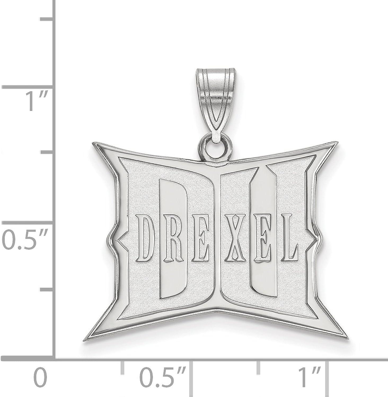 Sterling Silver LogoArt Official Licensed Collegiate Drexel University Large Pendant