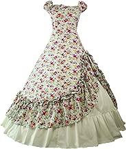 Loli Miss Women's Gothic Victorian Rococo Ball Gown Lolita Dress Civil War Reenactment Costume