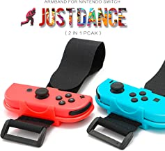 Wrist Bands for Nintendo Switch Compatible with Nintendo Switch Just Dance Game - Blue and Red (Fit for Thin Wrist - 3.15-7.5 inches Wrist Circumference)