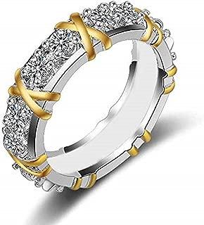 Silver Ring, Cubic Zirconia Winter Snowflake Flower Elegant Wedding Engagement Rings Band Size