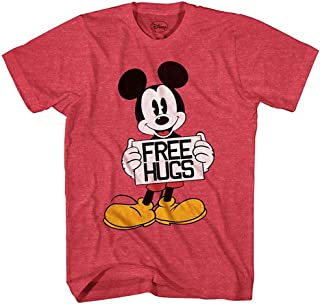 Mickey Mouse Free Hugs Disneyland World Funny Humor Pun Mens Adult Graphic Tee T-Shirt