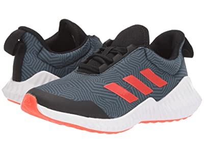 adidas Kids FortaRun Wide (Little Kid/Big Kid) (Black/Solar Red/Tech Ink) Boy