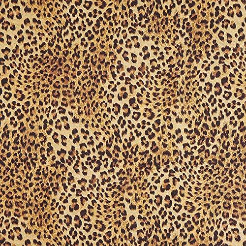 Jacquard Gobelin Leopard – beige — Meterware ab 0,5m — zum Nähen von Outdoor Deko, Tagesdecken & Tischdekoration