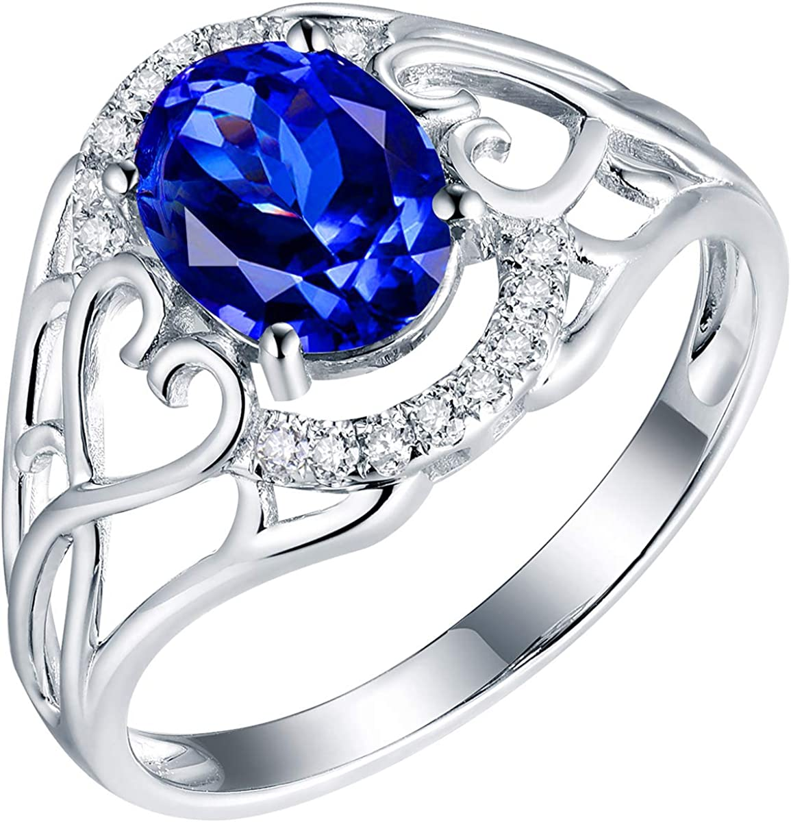 YONG SI Natural OFFicial shop Tanzanite Ring specialty shop with Gold Band Wedding Engagement