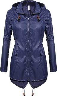 Women's Waterproof Raincoat Outdoor Hooded Rain Jacket Windbreaker