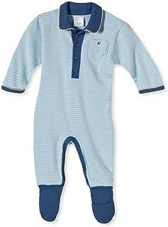 Schiesser Baby - Jungen Strampler Anzug mit Fuss - 136174, Größe Kinder:86Farbe:hellblau