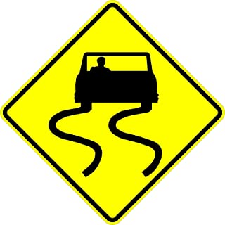 Municipal Supply and Sign Co. Slippery When Wet Sign - 18 x 18. A Real Sign. 10 Year 3M Warranty