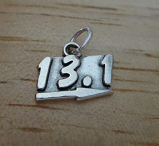 Sterling Silver Running 13.1 Half Marathon Runner Charm Pendant Bracelet Jewelry