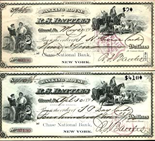1892 PAIR of 2 RARE and SUPERB 1892 GIRARD (ERIE) PA BANK DRAFTS w FINE OBSOLETE CURRENCY VIGNETTES and NOTEWORTHY AUTOGRPAH! CV $100 Payable at Chase Bank! XF-AU or better