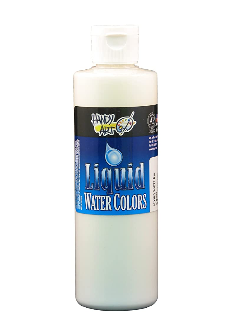 Handy Art Washable Liquid Watercolor 8 ounce, Mixing White