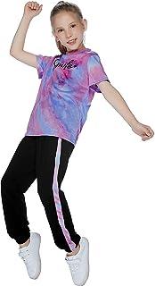 ملابس للبنات ذات صبغة التعادل بدل عداء ببطء سويت شيرتات رياضية سويت شيرت كروب هوديس مجموعات السراويل
