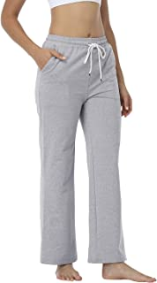 JULYER Womens Lounge Pants Drawstring Bootcut Yoga Long Length Wide Legs with Pockets