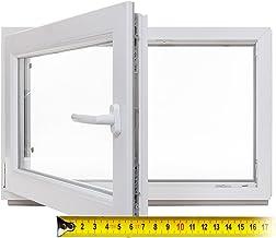 60mm Profil verschiedene Ma/ße wei/ß 2-fach-Verglasung LAGERWARE Fenster BxH: 100x40 cm DIN rechts Kellerfenster Kunststoff