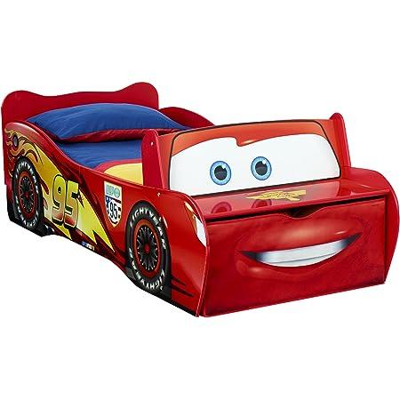 Worlds Apart - 452LMN - Lit enfant Disney Cars Flash McQueen, avec rangement , Rouge