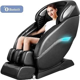 Lernonl Massage Chair Zero Gravity Full Body SL-Track, Shiatsu Electric Massage Chair with Stretching Tapping Heating Yoga Massage Back and Foot Massagers Black