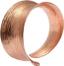 Anticlastic Copper Rose Gold Tone Bark Bangle by John S Brana Handmade Jewelry Durable Copper