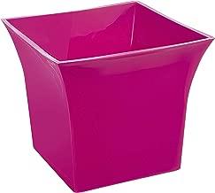 Klassic Plastic Sharp Edge Big Planter Set (Pink, Pack of 4)