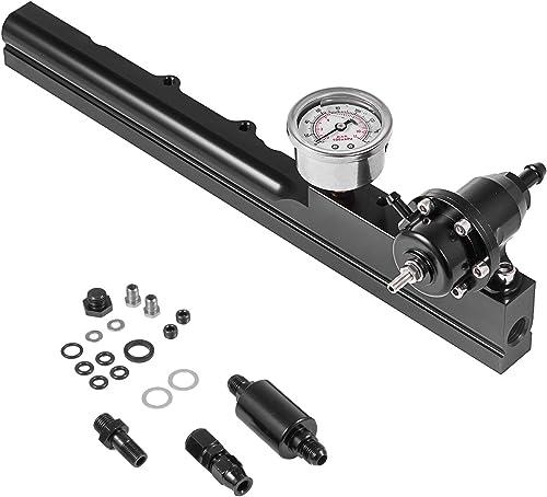 popular Mophorn Fuel Rail Kit B16 B18 online B20 Si LS GSR B-Series FPR+Fuel lowest Pressure Regulator Gauge sale