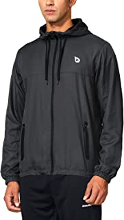 BALEAF Men's Running Woven Jackets Lightweight Track Windbreaker Zip Pockets