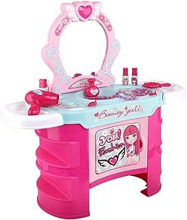 Keezi Kids Dressing Table Pretend Play Set Toys Girl Makeup Pink Jewelry 22pcs