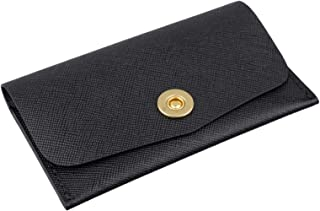 Richbud Leather Card Wallet Book Cover (Saffiano Snap Fastener)