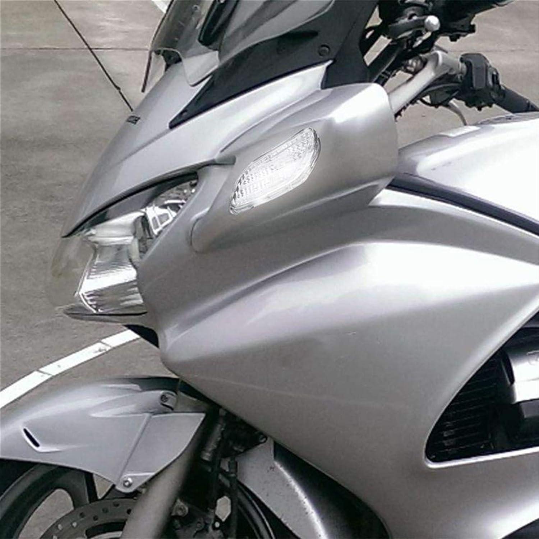Color : White Shping/® Accesorios de Motocicleta Se/ñales de Giro Delantero Indicador Lens Moto Turn Cubierta de luz Funda Ajuste para HON//DA ST1300 ST 1300 2002-2012